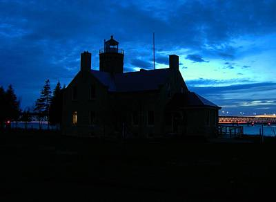Photograph - Old Mackinac Point Light At Dusk by Keith Stokes