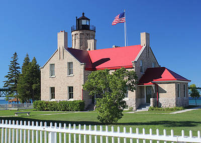 Photograph - Old Mackinac Point Lighthouse Angle by Mary Bedy