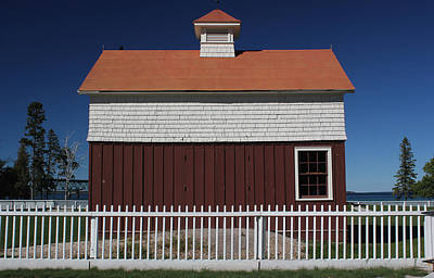 Photograph - Old Mackinac Point Lighthouse Barn 3 by Mary Bedy