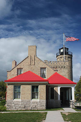 Photograph - Old Mackinac Point Lighthouse Front 2 by Mary Bedy