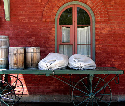 Art Print featuring the photograph Old Mail Wagon by Mary Bedy