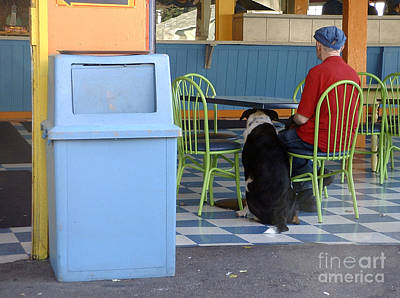 Photograph - Old Man And Dog by Tom Brickhouse