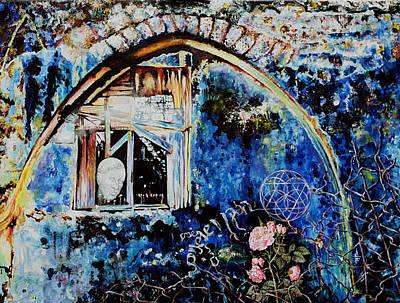 Painting - Old Man And Roses Hazaken Veshoshanim by Nekoda  Singer