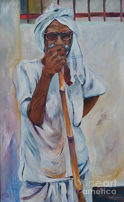 Painting - Old Man by Cher Devereaux