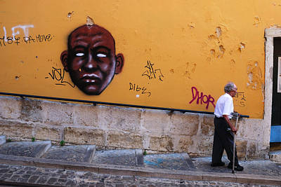 Photograph - Old Man Graffiti by Luis Esteves