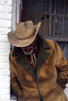 General Grievous Photograph - Old Man In Cowboy Hat by Mark Goebel