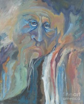 Poking Painting - Old Man In The Mountain by Beke Lemke