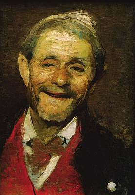 Fool Photograph - Old Man Laughing, 1881 Oil On Canvas by A Beridze