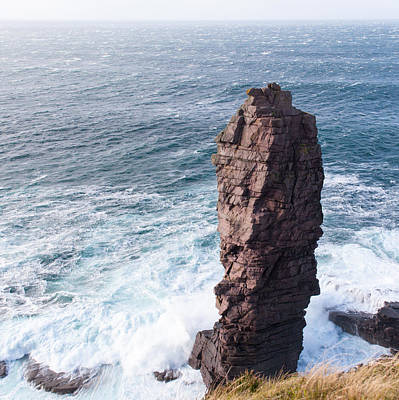 Photograph - Old Man Of Stoer In A Gale by Gary Eason