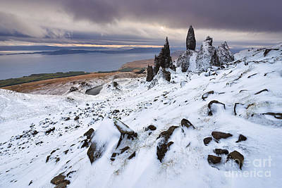 Winter Storm Photograph - Old Man Of Storr by Rod McLean