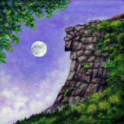 Old Man Of The Mountain Art Print by Sandra Estes