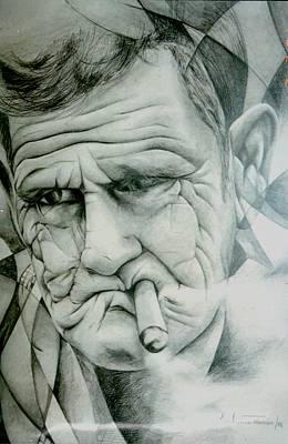 Milena Painting - Old Man Smoking Cigar by Ana Tamara