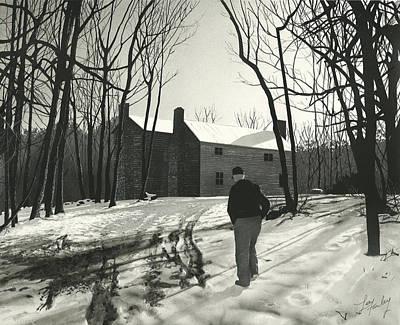 Old Man Winter Original by Lee Farley