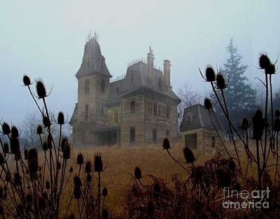 Haunted Mansion Photograph - Old Manor by Tom Straub
