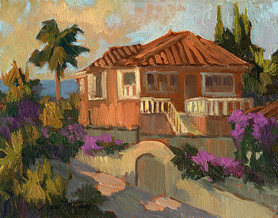 Spanish Villa Painting - Old Mansion Costa Del Sol by Diane McClary