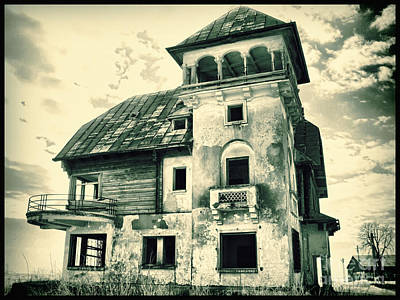 Photograph - Old Mansion In Maineasca Petrachioaia Romania by Daliana Pacuraru
