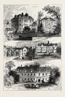 Old Mansions In Chelsea Art Print by Litz Collection