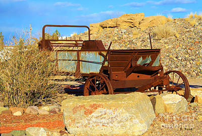 Photograph - Old Manure Spreader by Roena King