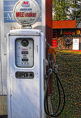 Photograph - Old Marathon Gas Pump by Kristie  Bonnewell