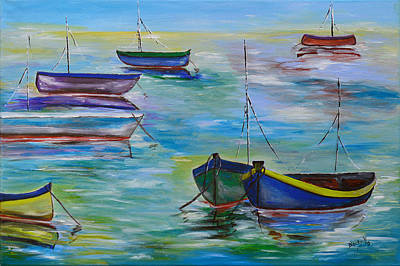 Painting - Old Marina by Donna Blackhall