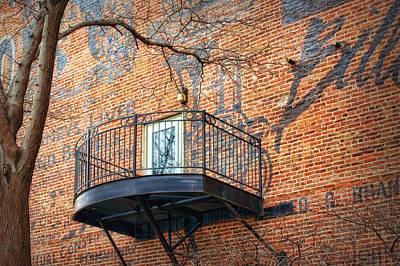 Old Market - Omaha - Metz Building - #4 Art Print by Nikolyn McDonald
