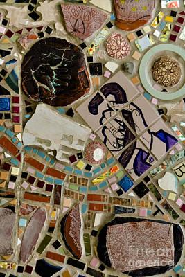 Nyc Subway Mosaic Photograph - Old Master by Gary Keesler