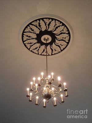 Photograph - Old Meeting House Chandelier by Kerri Mortenson