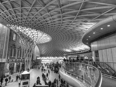 Photograph - Old Meets New At Kings Cross Station London by Gill Billington