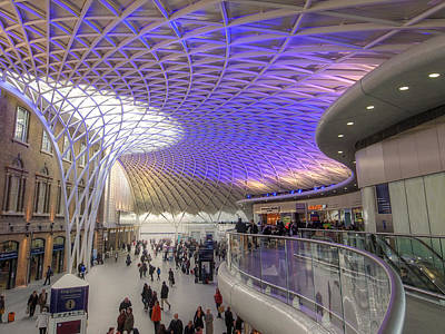 Railway Station Photograph - Old Meets New At Kings Cross Station London In Color by Gill Billington
