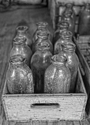 Photograph - Old Milk Bottles by Lee Dos Santos
