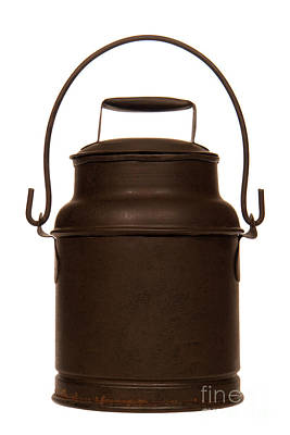 Milk Can Photograph - Old Milk Can by Olivier Le Queinec