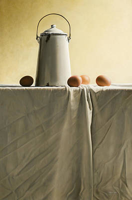 Stillife Painting - Old Milkcan by Mark Van crombrugge