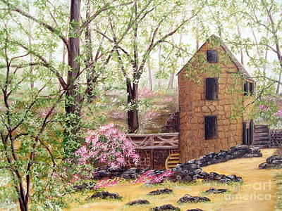 Painting - Old Mill Back Trail by Vivian Cook