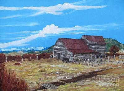 Mora Painting - Old Mill East Of Mora Nm by Lorita Montgomery