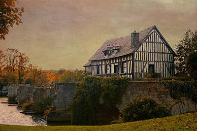 Old Mill On The Broken Bridge At Vernon Art Print