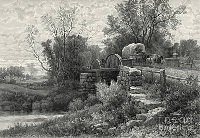 Old Mill Stream 1883 Art Print