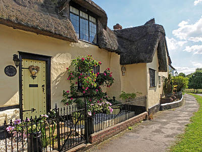 Photograph - Old Mill Thatched Cottage by Gill Billington