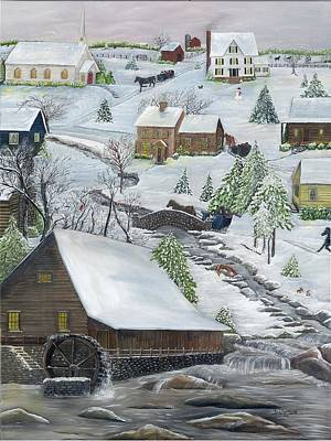 Painting - Old Mill Village by Linda Clark