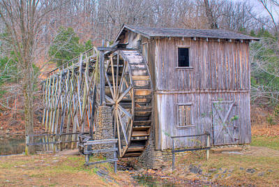 Old Mill Water Wheel And Sluce Art Print