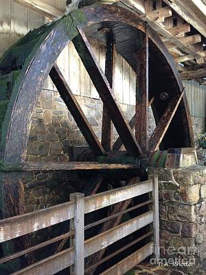 Art Print featuring the photograph Old Mill Water Wheel by Jeannie Rhode