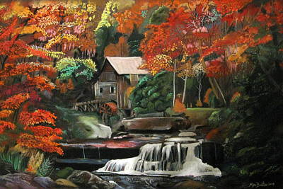 Pastel - Old Mill Waterfall by Mike Benton
