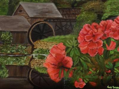Old Millhouse Print by Janis  Tafoya