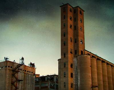 Old Buffalo Grain Mills Art Print