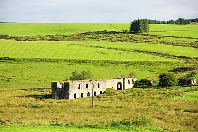 Old Mine Buildings Near Gilsland Print by Ashley Cooper