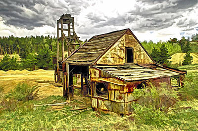 Photograph - Old Mine In Central  City Co by James Steele