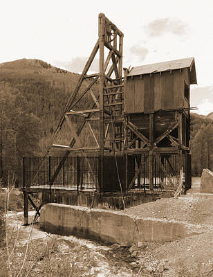 Dolores Photograph - Old Mine Sepia by Alan Socolik