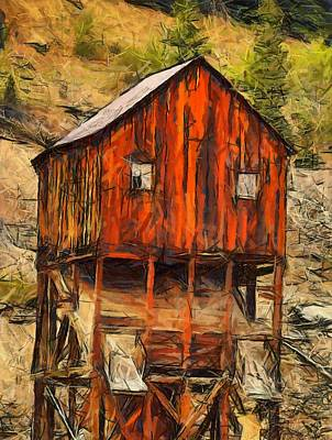Miners Painting - Old Mining Mill by Dan Sproul