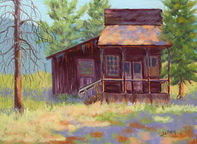 Art Print featuring the painting Old Mining Store by Nancy Jolley