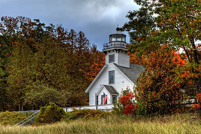 Photograph - Old Mission Point Light by Richard Gregurich