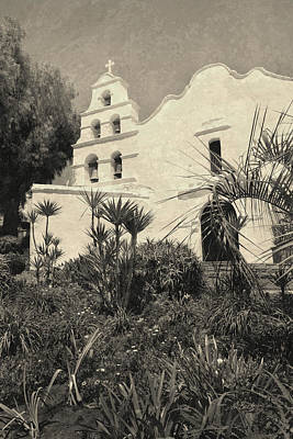 Old Mission San Diego In Sepia Art Print